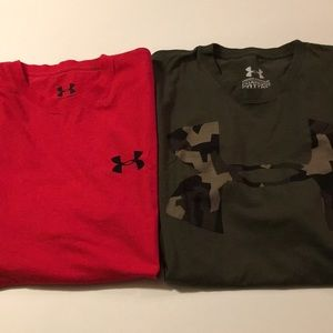 Lot of 2 Under Armour Charged Cotton Tees L